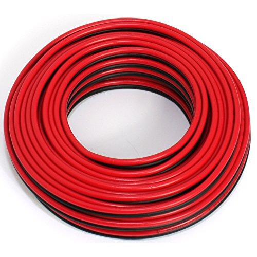 Cable de altavoz 2 x 1,50 mm², 10 m, rojo y negro, CCA, cable de audio