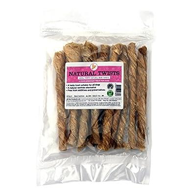 100g JR Pet Products Twisted Bladder 100% Dried Natural Twists Dog Treat Chew