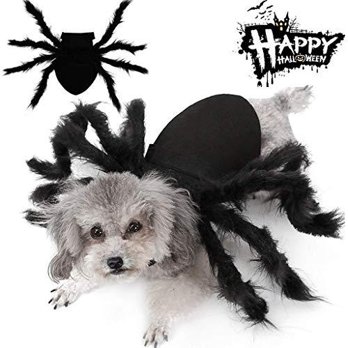 Kostuums Halloween-spinnenPet, Halloween huisdier hond kat simulatie pluche spin Cosplay kostuum met verstelbare aanzet pasta buckle