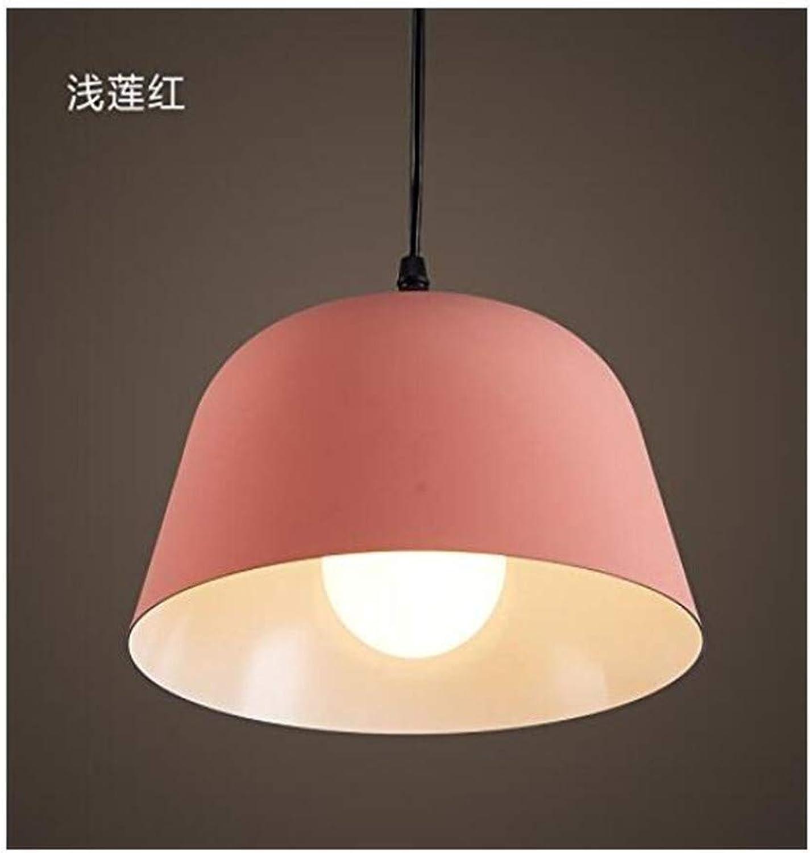 HBLJ Plafonnier Lampcafe Cuisine Restaurant Couloir Luminaires Plafonnier Lustre, D487-F ShalFaible Lotus rouge [Classe énergétique A +++]