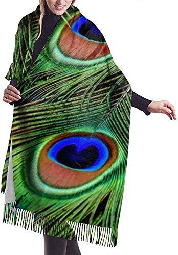 Pauw veren behang zachte kasjmier sjaal wrap sjaals lange sjaals voor vrouwen office partij reizen 68x196 cm