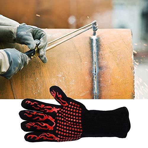 Handschoenen, 1 paar BBQ-kookhandschoen, Barbecue-hittebestendigheid 800 ℃ Handschoen, Kookhandschoen voor grillen Bakken lassen, Geschikt voor barbecue, keuken, barbecue, roker, oven, magnetron