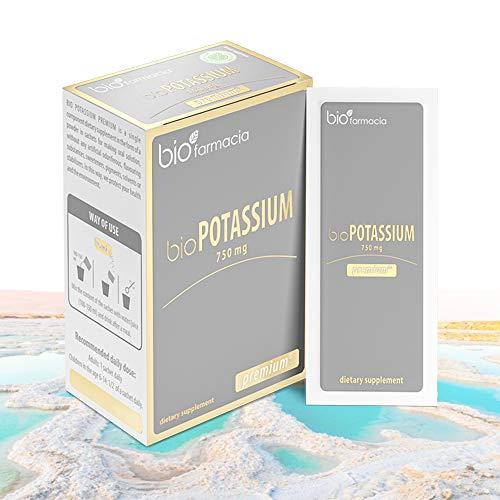 Citrato de potasio natural 750 mg | Extraído del Mar Muerto | Sin OMG y 100% vegano | para la función adecuada del cuerpo | Suplemento dietético premium - 30 sobres