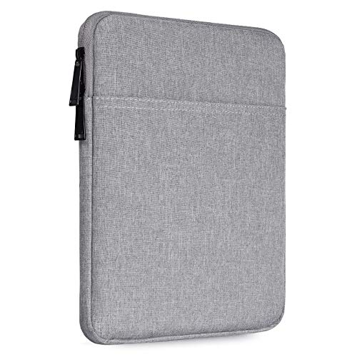 10 Inch Waterproof Tablet Sleeve Case for Samsung Galaxy Tab S5e S6 10.5/Galaxy Tab A 10.1, Smart Tab 10 M10 P10 10.1, iPad Pro 11 10.2 9.7, iPad Air 3 10.5 inch Tablet Protective Bag, Grey