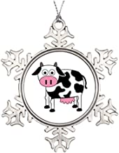 Metal Ornaments Ideas For Decorating Christmas Trees I Like Cows Blank One size