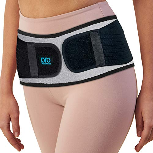 Sacroiliac Hip Belt for Women & Men That Alleviate Sciatica, Lower Back & Lumbar Pain Relief. Diamond Back Brace Provides SI Joint Pelvic Support Nerve Compression & Stability Anti-Slip (Regular Size)