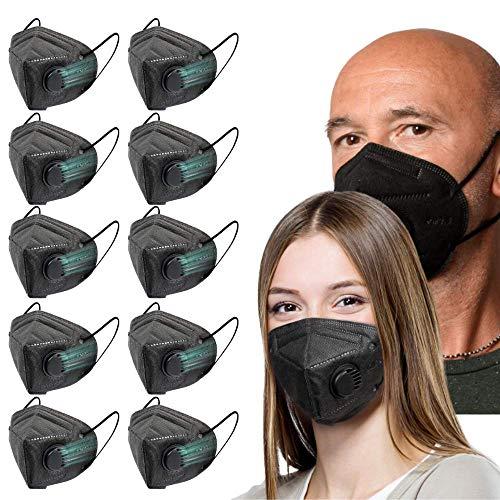Face Mask Reusable 10 Pcs Resporator Masks Black Color | Lightweight Comfortable on Skin