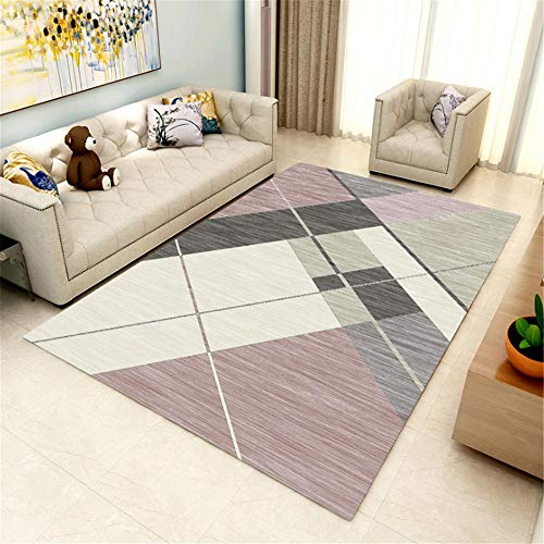Xiaosua Lichtbeständig Anti-Staub Teppich Moderne stilvolle geometrische unregelmäßige Muster...