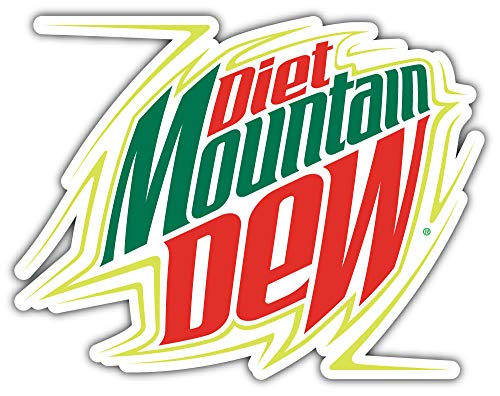 Diet Mountain Dew Logo Sticker Car Bumper Decal 5'' X 4''