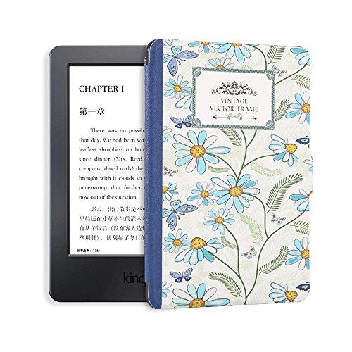 Goaeos 1X Printed Kindle 8 Case Silicone Skin for Kindle E-Reader Slim Cover Ebook Auto Sleep/WakeUp Soft Shell