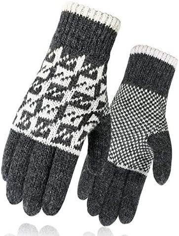 Men Mitten Casual Gloves Knitted Gloves Winter Warm Men&Women Guantes Creative Thicken Gloves Warm Print Quality Gloves - (Color: 8, Gloves Size: One Size)