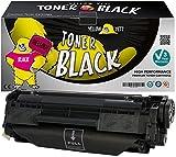Yellow Yeti Cartucho de Tóner compatible para HP LaserJet 1010 1012 1015 1018 1020 1022 1022n 1022nw 3010 3015 3020 3030 3050 3055 M1005 M1319f MFP Canon i-SENSYS LBP2900 LBP2900i [3 años de garantía]