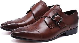 Rui Landed Oxford pour Hommes Chaussures Habillées Slip on Style Haute Qualité en Cuir Véritable Boucles Délicates Brogue ...