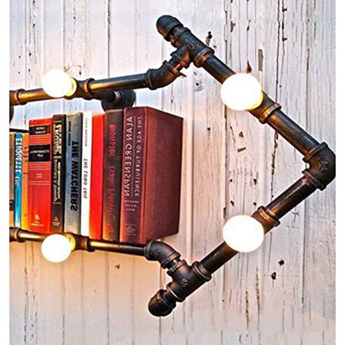 Wandleuchte Bücherregal Wandleuchten Regal Antike Industrielle Heimtextilien Wohnzimmerlampe Schmiedeeisen Wasserleitung Licht Nachtwandleuchte