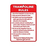 Kysd43Mill Trampolin Rules Activity Sign Park-Schilder, lustige Metall-Warnschilder,...