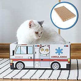 DIPOLA Cat House Cat Bed Cat Scratch Corrugated Paper Carton Box