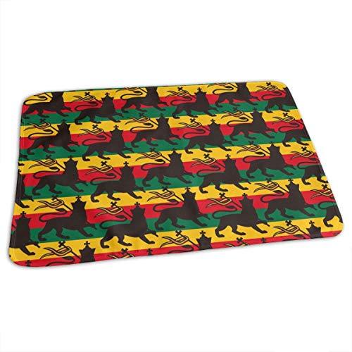 Housse de matelas à langer réutilisable avec drapeau de l'Astafarian avec le Lion Baby Matelas à langer portable 27,5 x 19,7 pouces