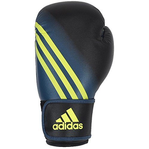 adidas Speed 100 (Kick) Boxhandschuhe Schwarz / Gelb-6oz