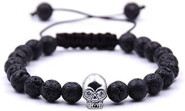 Armband van steen, doodshoofd-accessoires, armband van natuursteen