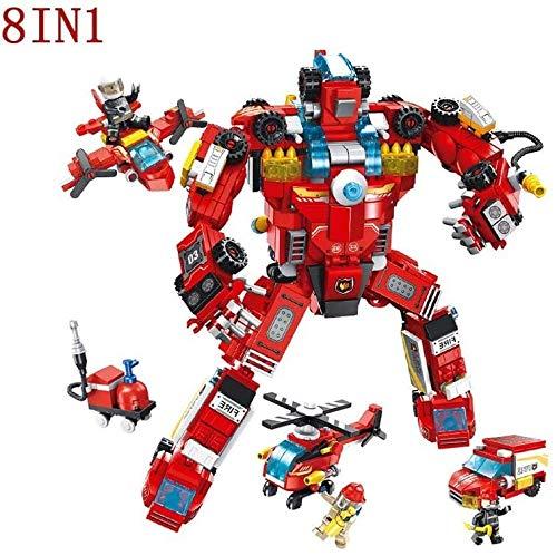 ZT Robot Building Blocks Juguetes 8 en 1 creativo de construcción de juguete juguete de aprendizaje STEM Kit de construcción del edificio educativo del bloque hueco for Age 5 6 7 8 9 10 años de edad,