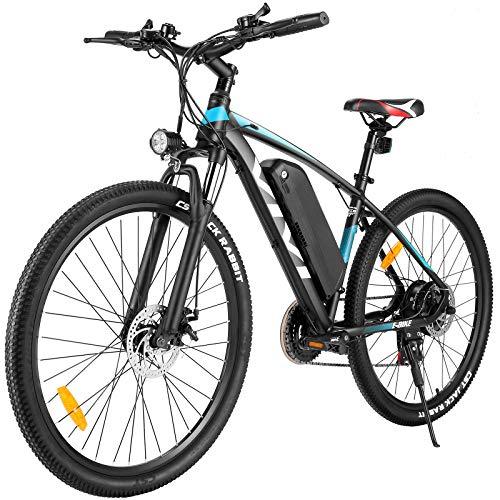Vivi E-Bike Mountainbike 26/27.5 Zoll Elektrofahrrad 350W Elektrisches Fahrrad mit 36V 10.4/8Ah Lithium-Batterie und Shimano 21