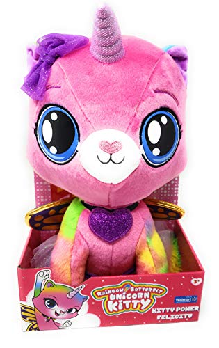 RBUK Exclusive Rainbow Butterfly Unicorn Kitty 13 Inch Plush