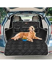 Looxmeer Uniwersalna ochrona bagażnika dla psów, mata ochronna do bagażnika, mata dla psa, z ochroną progu bagażnika i osłoną boczną, wodoszczelna, antypoślizgowa, odporna na zarysowania, czarna