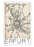 artboxONE Poster mit weißem Rahmen 45x30 cm Städte Erfurt