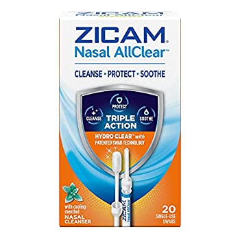 Zicam Nasal AllClear Triple Action Nasal Cleanser with Cooling Menthol 20 Count