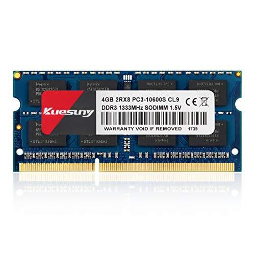 Kuesuny - Ordenador portátil (4 GB, DDR3, 1333MHz, PC3-10600, sin ECC, 1,5 V, CL9, 2Rx8, Dual Rank, 204 pines, SODIMM)