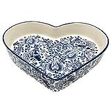 LA VITA VIVA Herzschale Servierschale aus Keramik in Herzform - als Salatschüssel Snackschüssel Beilagenschale und Herzbackform
