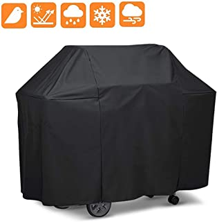 opamoo Grill BBQ Cover Premium Waterproof - Gas Large 600D Heavy Duty Material Grill Cover UV Resistant Durable Convenient for Brinkmann, Weber, Char Broil, Holland, Nexgrill, Jenn Air