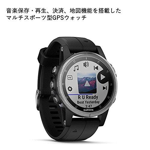 GARMIN(ガーミン)fenix5sPlusBlack音楽再生機能マルチスポーツ型GPSウォッチ最大6日間稼働【日本正規品】