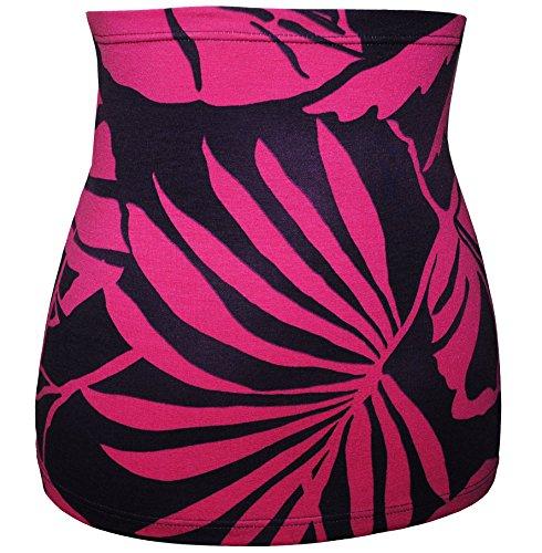Belldessa 3 in 1: Jersey - Nierenwärmer / Shirt Verlängerer / modisches Accessoire - lila pink rosan Frau S