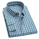 HDDFG Camisa de manga larga a cuadros gris para hombre S-5XL Primavera Casual Botón Tendencia Suave y cómoda Camisas ajustadas antiarrugas (Color : C, Size : M code)