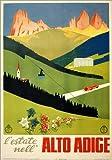 Poster 50 x 70 cm: Alto Adige Vintage Zeitung, Südtirol, Italien - hochwertiger Kunstdruck