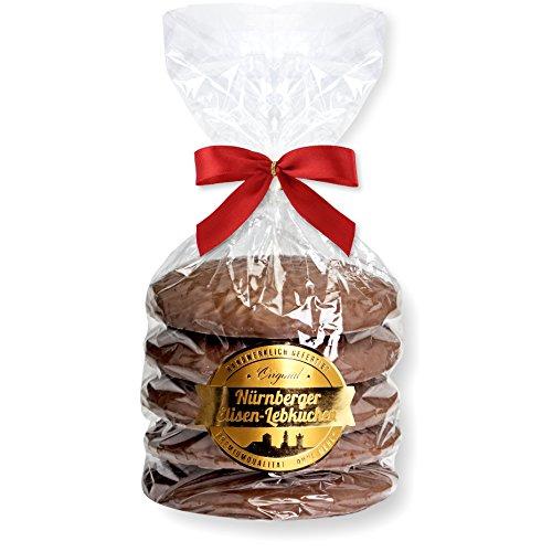 Nürnberger Elisen Lebkuchen Vollmilch Schokolade - 5 Stück - (1x400g)