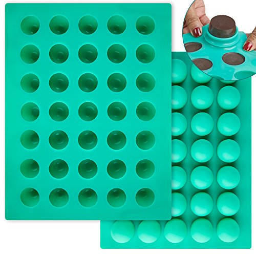 O 'creme rund Silikon Form für Schokolade Trüffel, canache, Jelly, Pralinen und Servieren, Silikon, grün, 40mm Diameter x 35mm High