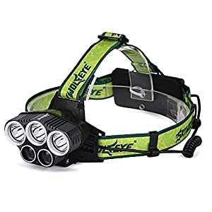 Headlamp, Skywolfeye Brightest High 6000 Lumen LED Work Headlight,18650 USB Rechargeable Flashlight Waterproof with Zoomable Work Light,Head Lights for Camping,Hiking, Outdoors