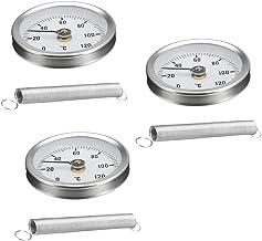 3x temperatuurmeter thermometer buis 63 mm met veer accessoires voor industriële uitrusting