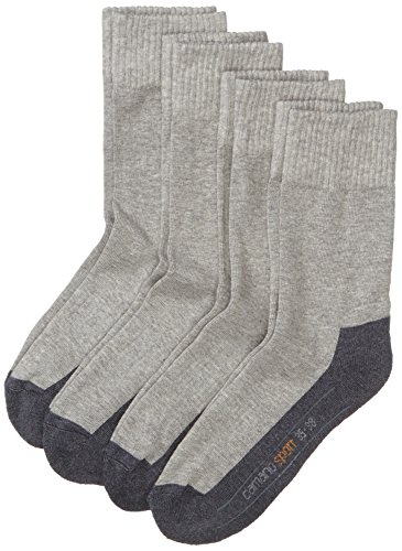 Camano Herren 5942 Sport Socks 4 Paar Sportsocken, Grau (grey 10), (Herstellergröße: 43/46) (4er Pack)