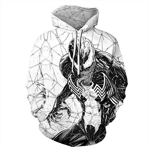 JJCat Sudadera con capucha para hombre de manga larga con impresión digital 3D de Heldengift, de la serie de luchadores, carbón, XXXL