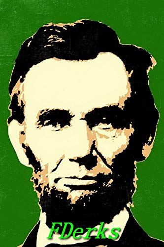 FDerks Kid Children Funny Puzzle 200 Pieces Pop Art Abraham Lincoln Green Ideal Gift for Kids Boy Girl
