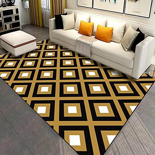 MENEFBS Alfombra de imitación con estampado de animales para sala de estar, dormitorio, antideslizante, 160 x 230 cm