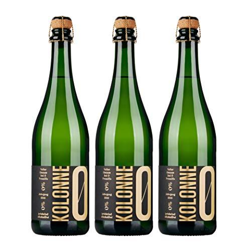 Kolonne Null - Alkoholfreier Sekt (3 x 0,75 L) - Riesling Jahrgang 2018