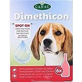 DIMETHICON - Pipetas anti-garrapatas y antipulgas 'Spot On' para perros, x 6 pipetas