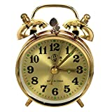 LIMEI-ZEN Wake-Up Lights,Wind Up Mechanical Alarm Clock Twin Bell Vintage Table Clock Home Decor Gift(Without Battery) Clock