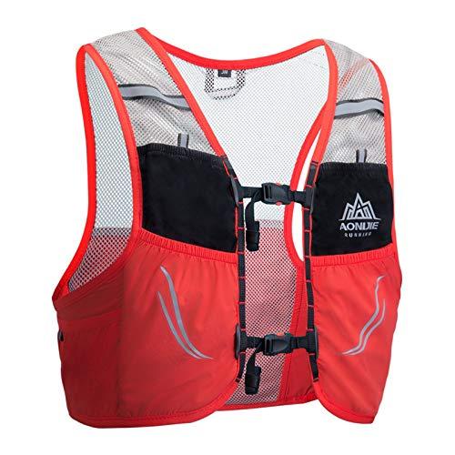 AONIJIE 2.5 L Unisex Ultra Running Chaleco de Piel Avanzada hidratación Pack para Trail Running Cycling Marathoner (Rojo -M/L)