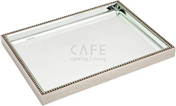 Cafe Lighting and Living 50497 Zeta Tray, Large, Silver