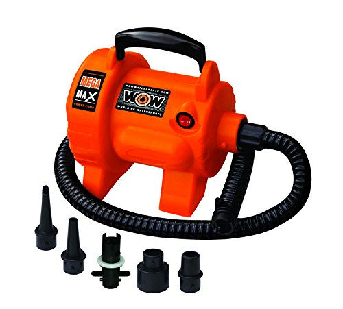 WOW Sports World of Watersports 16-4000, Mega Max 120 Volt Electric Air Pump, 12 Foot Cord, High Pressure